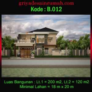 Rumah 2 Lantai Mewah Lebar 18 x 20 Meter Pojok