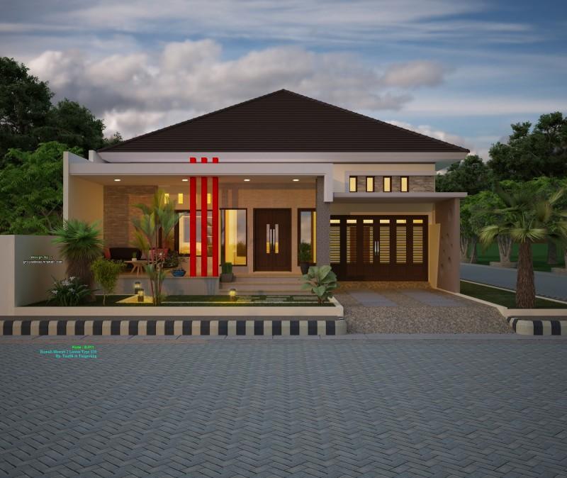 desain gambar rumah mewah elegan 1 lantai