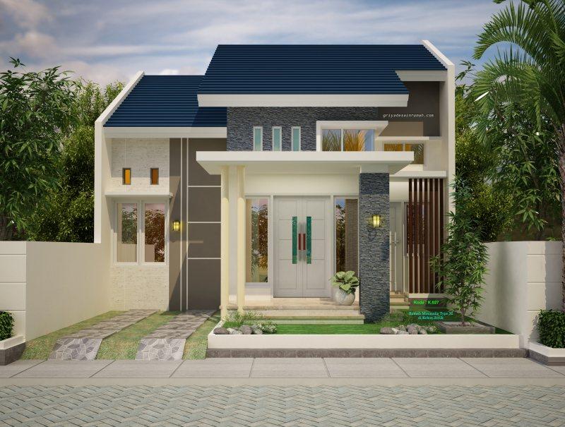 Desain Gambar Rumah Minimalis 1 Lantai Type 72
