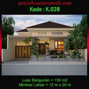 Denah Gambar Rumah Type 150 Ukuran 12 x 20 Meter