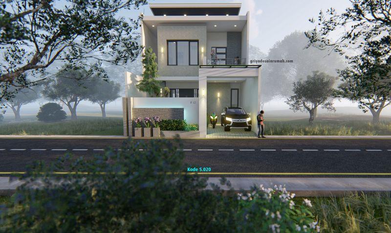 Desain Gambar Rumah 2 Lantai Type 170 MInimalis