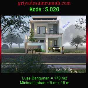Rumah 2 Lantai Type 170 Ukuran 9×16 Meter 4 Kamar Tidur