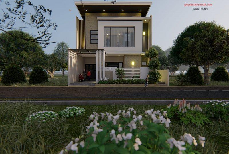 Rumah 2 Lantai Mewah Modern Ukuran 9,5x15 Meter