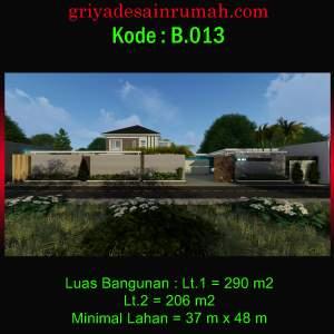 Desain Rumah Villa 2 Lantai Mewah Modern dan Kolam Renang Minimalis