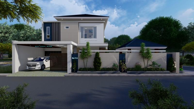 Desain rumah minimalis mewah 2 lantai ukuran 13x16 meter hook