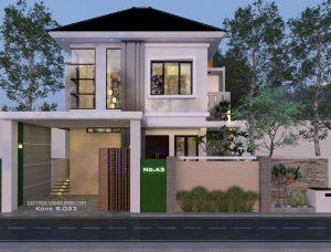 rumah mewah 2 lantai 3 kamar tidur ukuran 11x15 meter