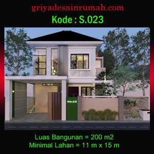 Rumah Mewah 2 Lantai 3 Kamar Tidur Ukuran 11×15 Meter