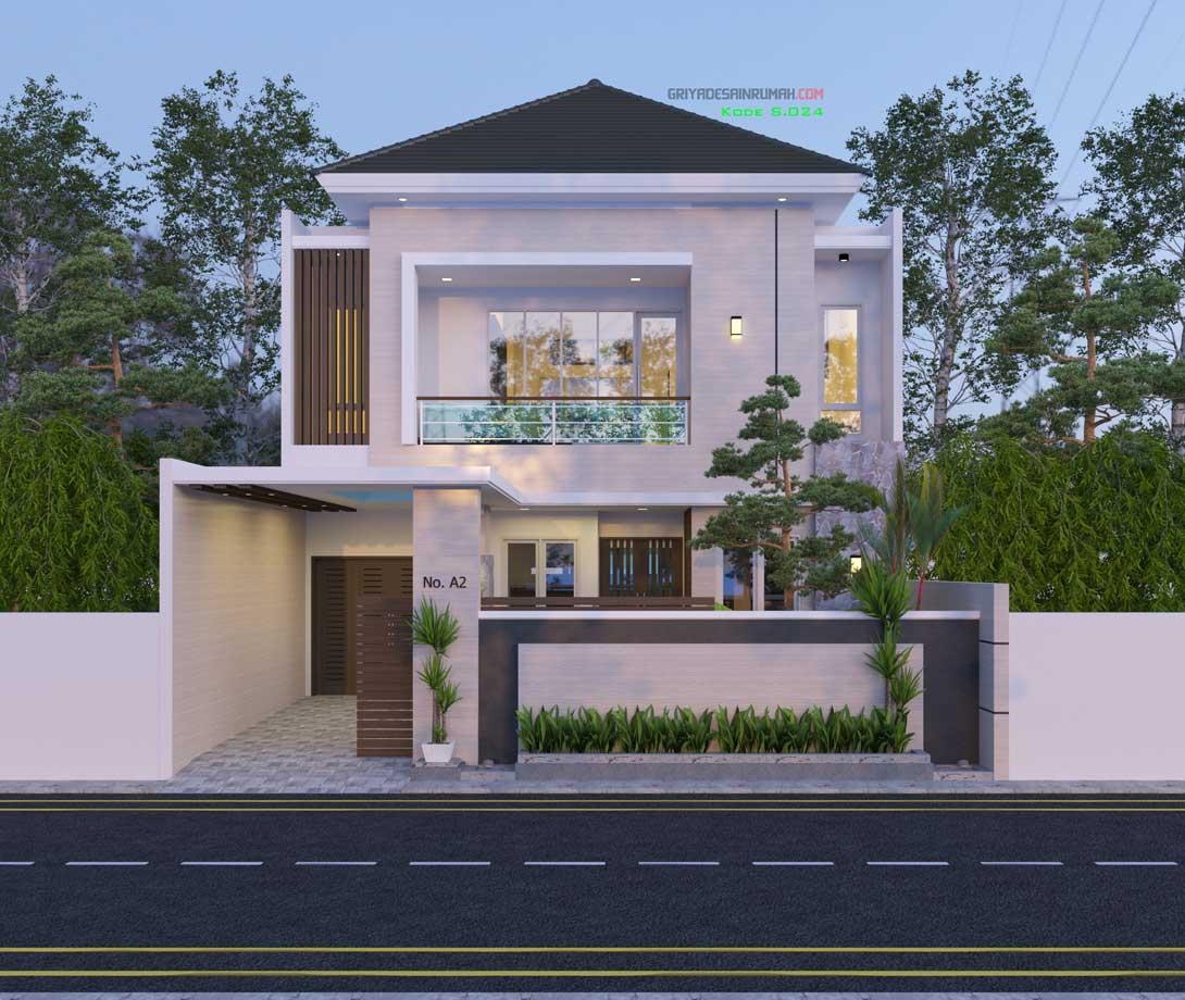 desain rumah 2 lantai minimalis mewah ukuran 10x17 meter
