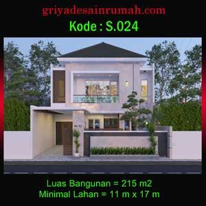 Desain Rumah 2 Lantai 5 Kamar Tidur Ukuran 10×17 Meter