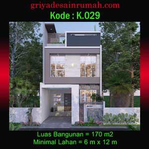 desain rumah minimalis modern lebar 6 meter